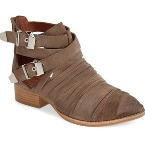 Jeffrey Campbell Strappy Suede Booties